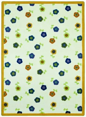 "Joy Carpets Kid Essentials Infants & Toddlers Awesome Blossom Rug, Bold, 3'10"" x 5'4"""