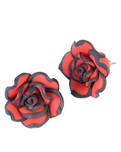 Day of the Dead Rose Earrings Adult Accessory