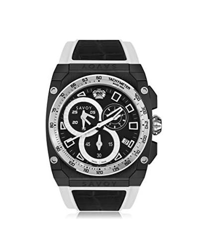 Savoy Men's Icon Extreme Black & White Silicone Watch