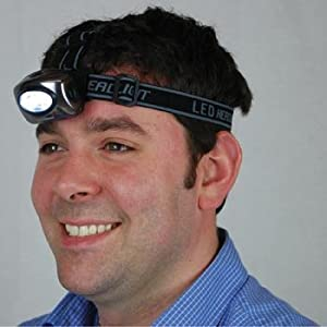 Campers Micro LED Head Lamp with Hat Clip (High/Low Beam)