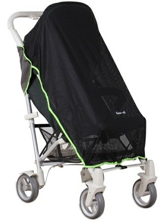 Koo-Di Pack It Universal Sun Mesh & Sleep Shade for Baby Pushchairs (Grey)