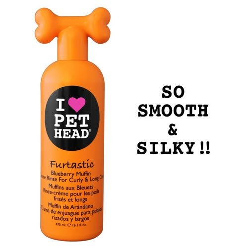 Pet Head Furtastic Crème Rinse For Curly And Long Coat Blueberry Muffin 16Oz (Set Of 12)