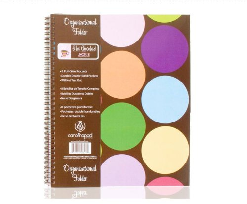 Carolina Pad Hot Chocolate 8-Pocket Organizational Folder Circle Design, 9.75 x 11.25 Inches (15019)