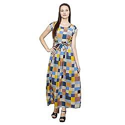 LEBE Women's Multicolor Maxi Dress