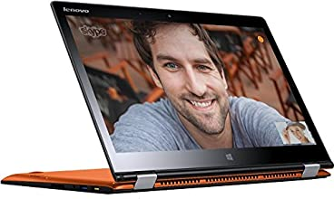 "Lenovo Yoga 3 14 Ordinateur portable Hybride Tactile 14"" Orange (Intel Core i5, 8 Go de RAM, SSD 256 Go, Intel HD Graphics, Mise à jour Windows 10 gratuite)"