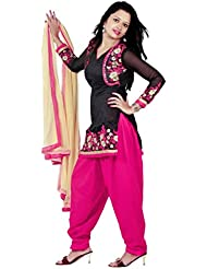 Caffoy Cloth Company Women's Pink Color Bangalori Silk Embroidered New Pattern Party Wear Jacket Style Patiala...