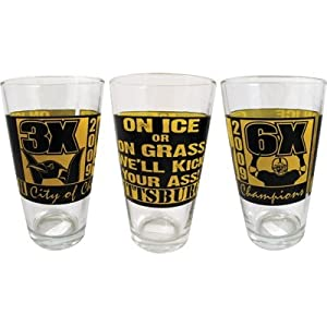 Pittsburgh Mixing Glass Ice Or Grass We'll Kick Your Ass by Gift House