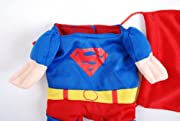 Paico Pet Custumes Funny Dog Coat Superhero Superman - S
