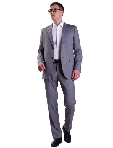 Alberto Cabale X2-807136 1 Straight Grey Man Suits Men - T50-42