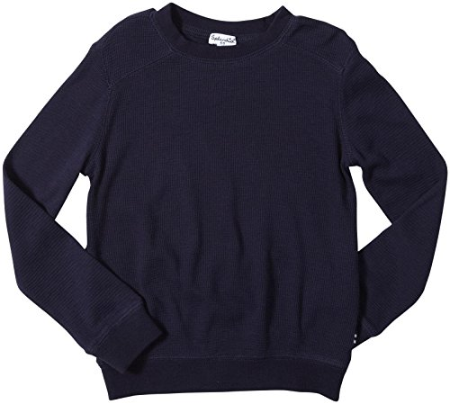 Splendid Little Boys' Solid Thermal Long Sleeve Tod, Navy, 4T front-1061774