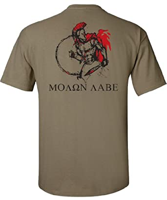 Gadsden and Culpeper MOLON LABE Spartan Warrior T-Shirt - Tan - Medium