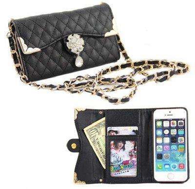 ノーブランド iphone6 / 6 plus バッグ 風 デコ キルティング ケース / カバー アイフォン 手帳 型 ブラック iphone 6