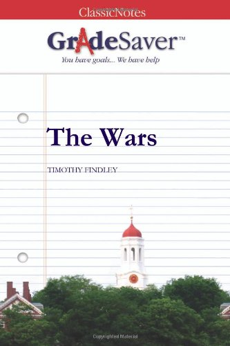 the theme of war in the wars a novel by timothy findley Before reading timothy findley's the wars i might have said possibly  the  wars was the fourth book in the literature and war readalong 2013  but was  in the end about much more philosophical and universal themes.