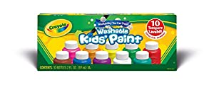 Crayola Washable Kids Paint set of 10 Bottles (2 fl oz/59mL)