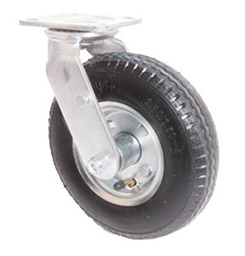 6″ Swivel Plate Caster, Pneumatic Wheel, 300 lbs Capacity, Ball Bearings