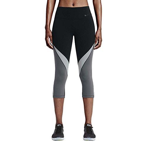 Nike Women's Dri-Fit Legendary Fabric Twist Training Capris-Black/Gray/White-Medium