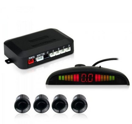 Soled LED Display Car Vehicle Reverse Backup Radar System with 4 Parking Sensors (Parking Pass Mount compare prices)