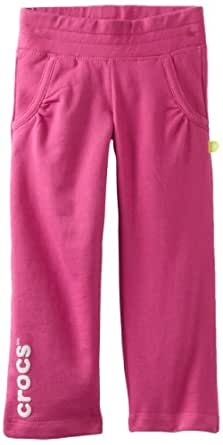 Crocs Baby Girls' Track Pant, Fuchsia, 18 Months