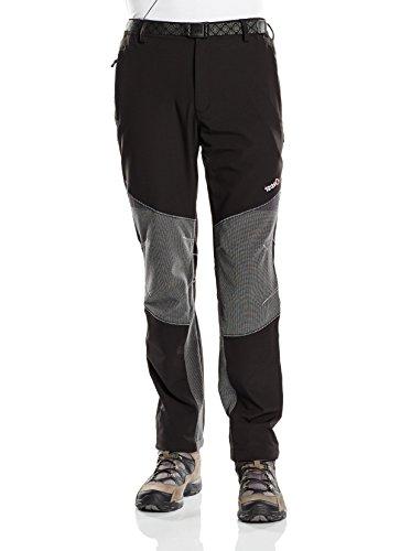Izas Stretch Coruna, Pantaloni da Trekking da Uomo, Multicolore (Negro/Gris), XL