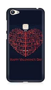 Amez designer printed 3d premium high quality back case cover for Vivo X6 (Valentine day)