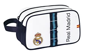 Real Madrid C.F. - Neceser adaptable, 26 x 15 x 12 cm (Safta 811356518)