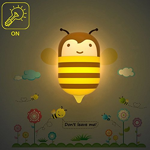 Viskey Wall Sticker Lamp / DIY Light Control Induction Wallpaper Night Light, Bee