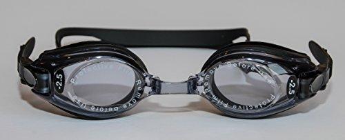 Sports Vision's Optische Schwimmbrille Erwachsene Schwarz Minus und Plus Dioptrienstärken UV-schützend Farbton