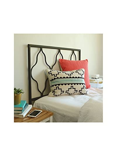 Walker Edison Kid's Moroccan Twin Size Headboard, Black