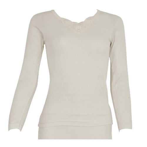 Ladies/Womens Thermal Wear Long Sleeve T-Shirt Top (Polyviscose Range)