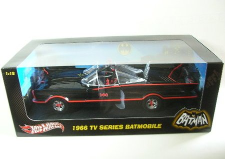 Hot Wheels 1966 Tv Series Batmobile Batman Car 1/18 W1171
