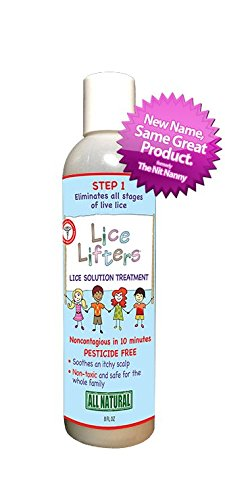 Lice Lifters Lice Solution Treatment (Eliminates Lice) in 10 Minutes. All Live Lice Activity Will Be Gone. Best Used with Lice Lifters Mouse to Get Rid of Head Lice for the Whole Family. The Lice Lifters Nit Removal Comb in Conjunction with the Solution Treatment Eliminates All Lice and Nits Safely for Children. All Natural, Pesticide and Chemical Free Lice Treatment.natural Alternative to Rid. Natural Choice to Nix. All-natural Selection to Lice Md. Best Choice Instead of Fairy Tales. (Lice Lifters compare prices)