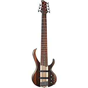 Ibanez BTB7E 7-String Electric Bass Guitar Flat Natural from Ibanez