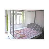 Shahji Creation Double Bed ivory 7X7feet best quality Mosquito Net