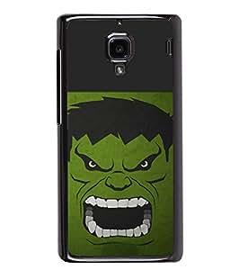 PRINTVISA Hulk Premium Metallic Insert Back Case Cover for Xiaomi Redmi 1S - D5883