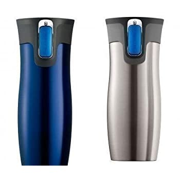 The Contigo Autoseal Travel Mug, Stainless Steel, Vacuum Insulated Tumbler now in 2 Pack (Blue/Stainless Steel). Contigo's Patented AUTOSEAL® technology creates a mug that is both leak and spill proof. Now those are pretty bold claims, but they are w...