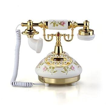 SODIAL(R)Antique Designer Phone nostalgia telescope vintage telephone made ??of ceramic MS-9100