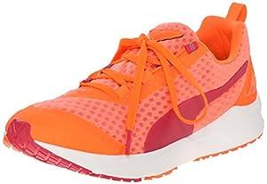 PUMA Women's Ignite XT Core Running Sneaker, Fluorescent Peach/Rose Red, 7 B US