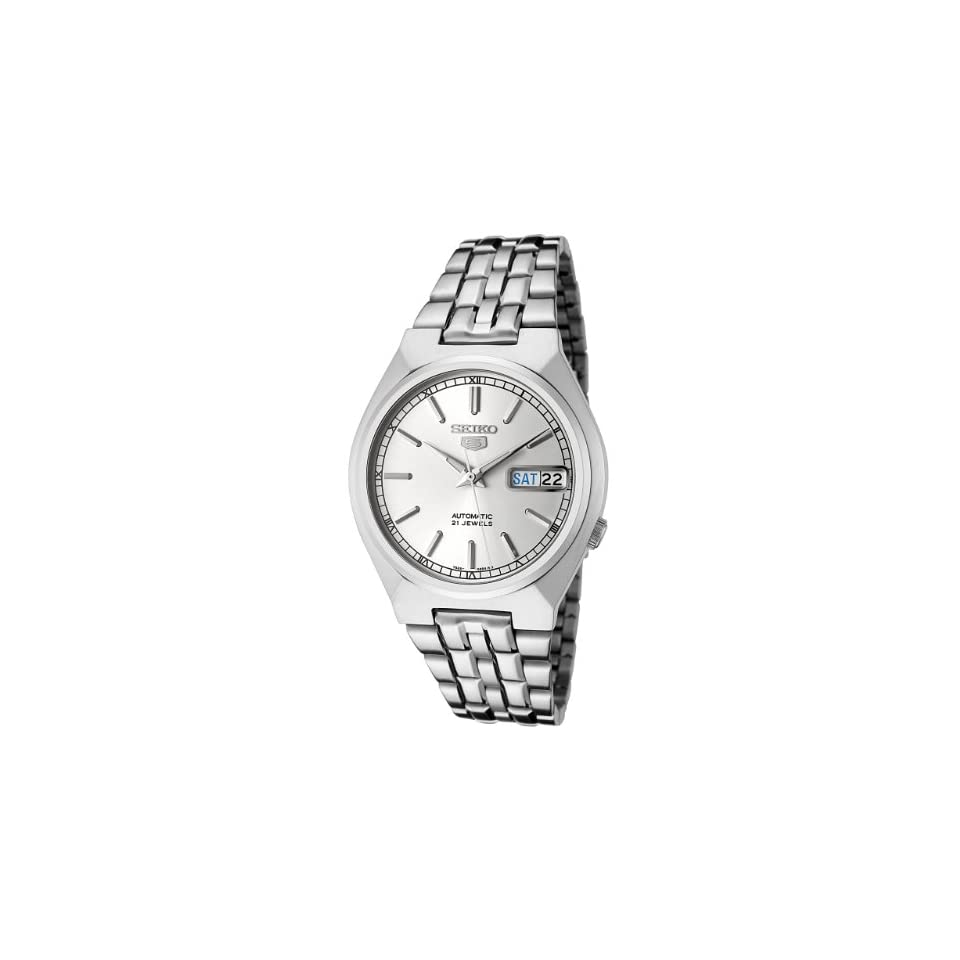 Dufonte Mens 80396 Panther Link Silver Tone Watch