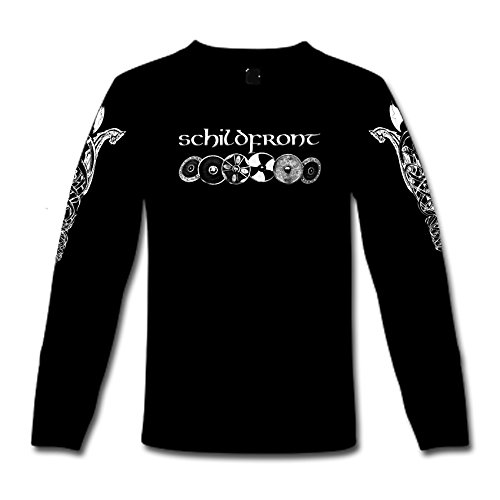 "T-Shirt a maniche lunghe ""Schildfront"" S-XXL Nero  nero"
