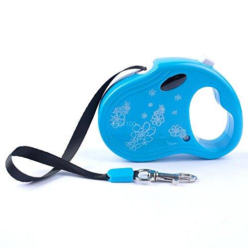 Epyen (TM) di 3M / 10ft retrattile guinzaglio del cane cucciolo estensione Walking Leads rosa colori blu