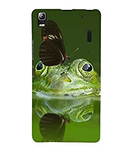 printtech Nature Frog Butterfly Back Case Cover for Lenovo A7000