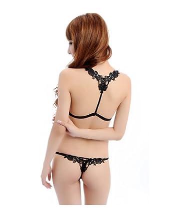jntworld sexy soutien-gorge sans couture de fermeture frontale avec une allumette G piqûre sous-vêtements, 70B, noir