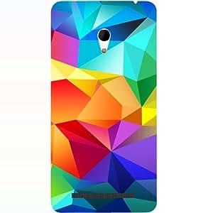 Casotec Colorfull Pattern Design 3D Hard Back Case Cover for Asus Zenfone 6
