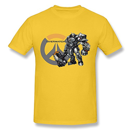 Anskan Men's Overwatch Reaper T-shirt M Yellow
