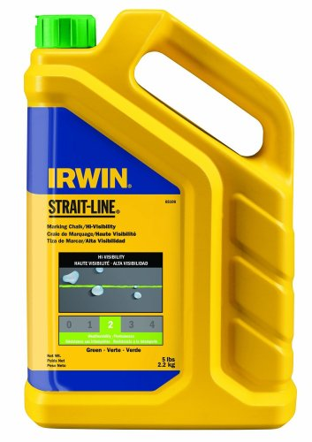 IRWIN Tools STRAIT-LINE Standard Marking Chalk, 5-pound, Fluorescent Green (65106)