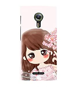 EPICCASE Dream Gril Mobile Back Case Cover For Alcatel One Touch Flash 2 (Designer Case)