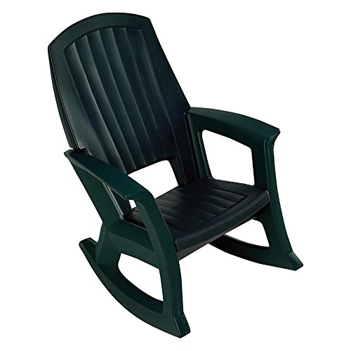 Miraculous Semco Recycled Plastic Hunter Green Outdoor Rocking Chair Import It All Bralicious Painted Fabric Chair Ideas Braliciousco