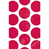 1 X 10 Apple Red Polka Dot Packaging Paper Favor Bags