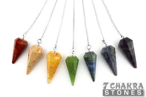 Chakra Faceted Pendulum Set