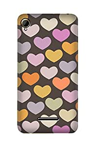 ZAPCASE PRINTED BACK COVER FOR INTEX AQUA POWER PLUS - Multicolor